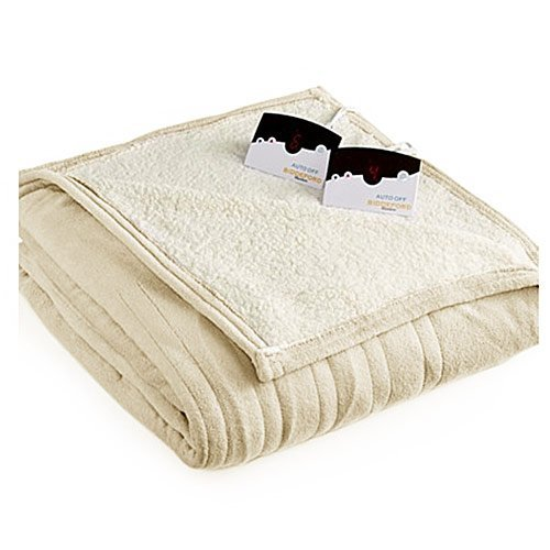 Biddeford MicroPlush Sherpa  Heated Queen Blanket
