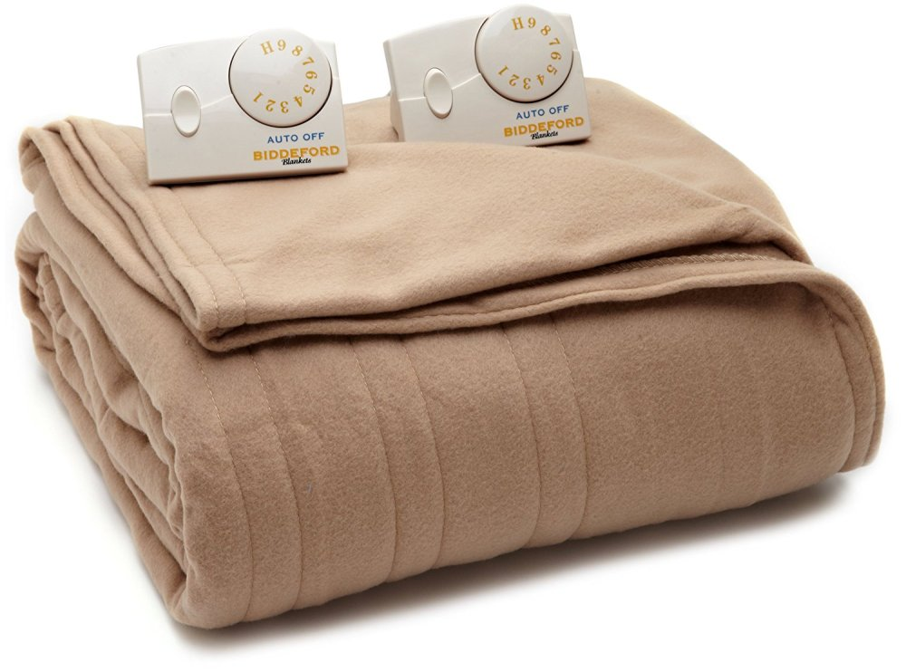 Biddeford Comfort Knit Electric Heated Queen Blanket